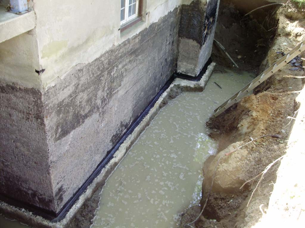 French Drains Foundation Waterproofing